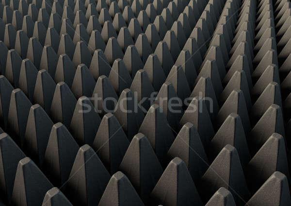 Geluid bewijs schuim 3D Stockfoto © albund