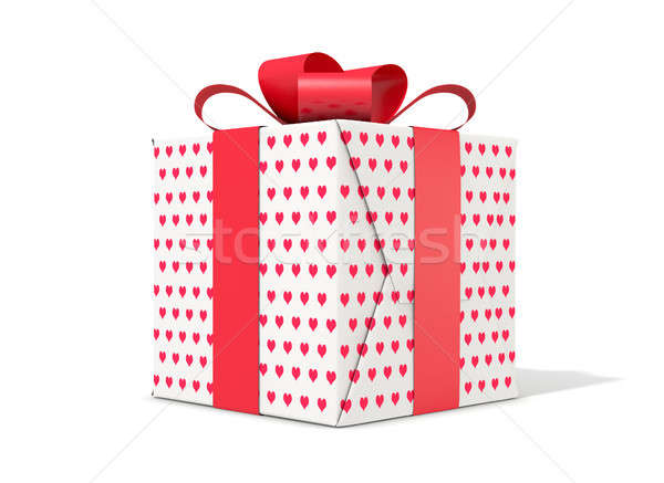 Valentines Day Cube Gift Stock photo © albund