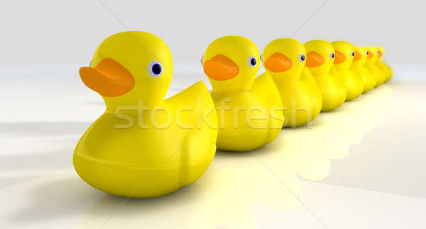 Get All Your Rubber Ducks In A Row Stock photo © albund