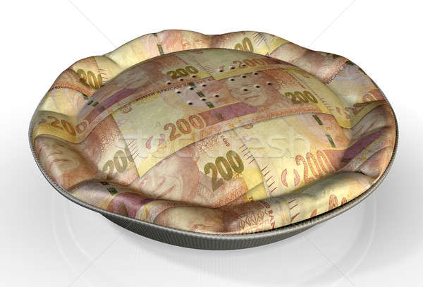 Money Pie South African Rand Stock photo © albund