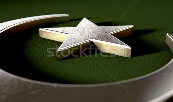 мусульманских звездой металл зеленый Сток-фото © albund