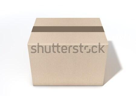 Regelmatig bruin gesloten geïsoleerd witte Stockfoto © albund