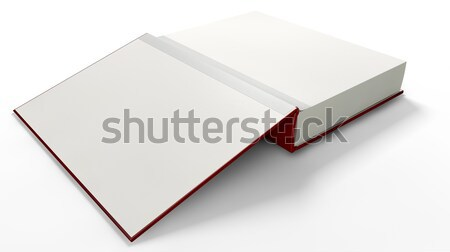Açık kitap açmak kırmızı ciltli kitap Stok fotoğraf © albund