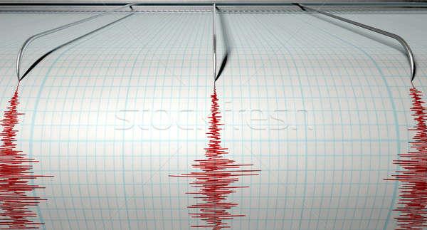 Seismograph Earthquake Activity Stock photo © albund