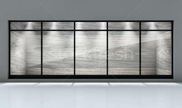 Laden Schaufensterauslage leer Vorderseite Business Stock foto © albund