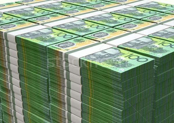 Australian Dollar Notes Pile Stock photo © albund