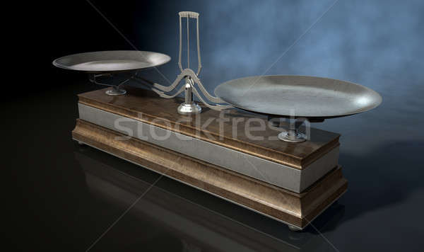 Two Pan Balance Scale Stock photo © albund