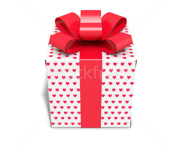 Valentines Day Cube Gift Stock photo © albund