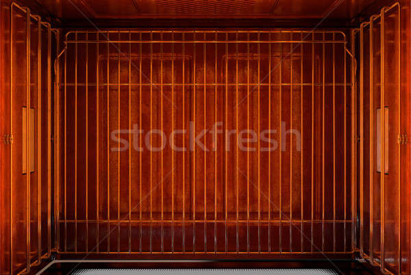 Inside The Oven From Above Stock photo © albund