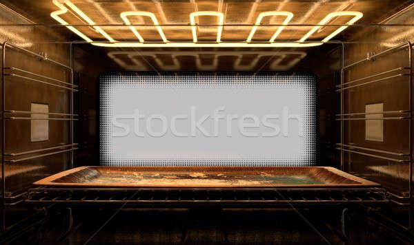 Inside The oven Stock photo © albund