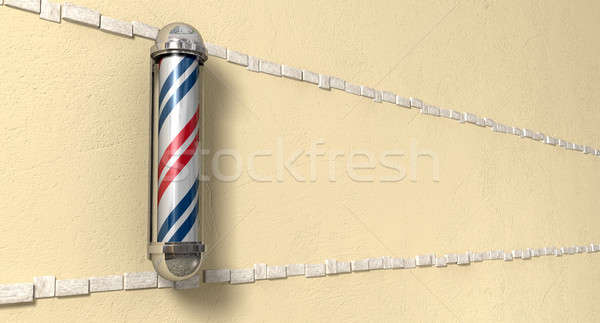 Barbers Poll Mounted On A Wall Perspective Stock photo © albund