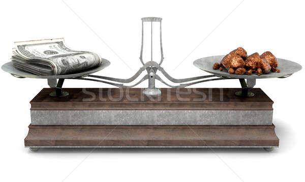 Stock fotó: Egyensúly · mérleg · összehasonlítás · öreg · fém · fa