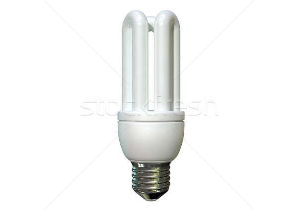 Fluorescente regolare isolato bianco mondo Foto d'archivio © albund