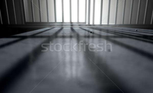 Celda de la cárcel oscuridad 3d primer plano vista cárcel Foto stock © albund