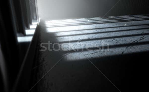 тюремной камере Тени 3d визуализации мнение тюрьму Сток-фото © albund