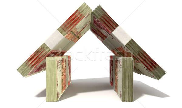 British Pound Notes House Front Stock photo © albund