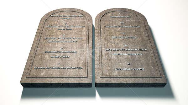 The Ten Commandments Stock photo © albund