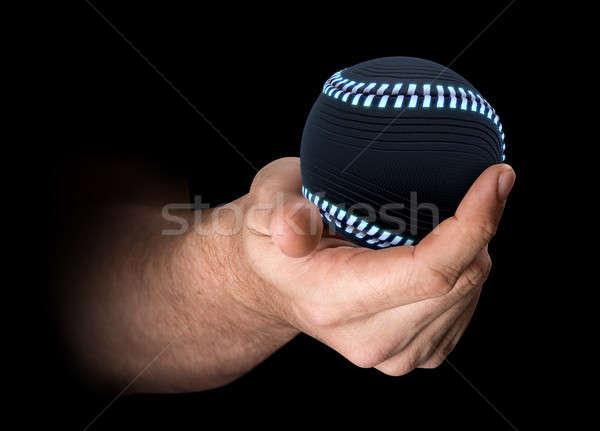 Strony baseball mężczyzna futurystyczny odizolowany Zdjęcia stock © albund