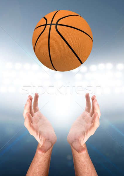 Hands Catching Ball Stock photo © albund