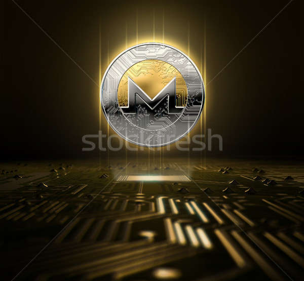 Cryptocurrency And Circuit Board Stock photo © albund