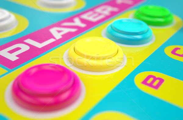 Luminous Arcade Control Panel  Stock photo © albund
