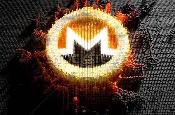 Pixel Monero Concept Stock photo © albund