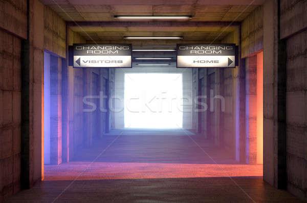 Spor tünel rakip değiştirmek odalar aşağı bakıyor Stok fotoğraf © albund