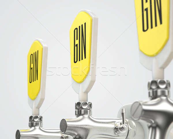 Gin Draught Spigot Row Stock photo © albund