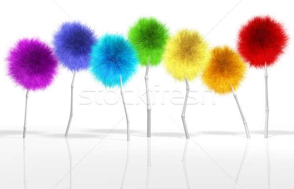 Fantasie paardebloem bomen spectrum klein gewas Stockfoto © albund