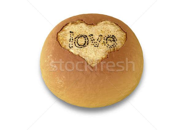 Bread Bun Made With Love Stock photo © albund