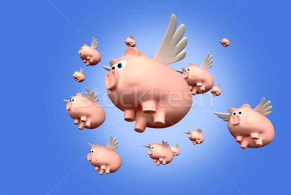 When Pigs Fly Stock photo © albund