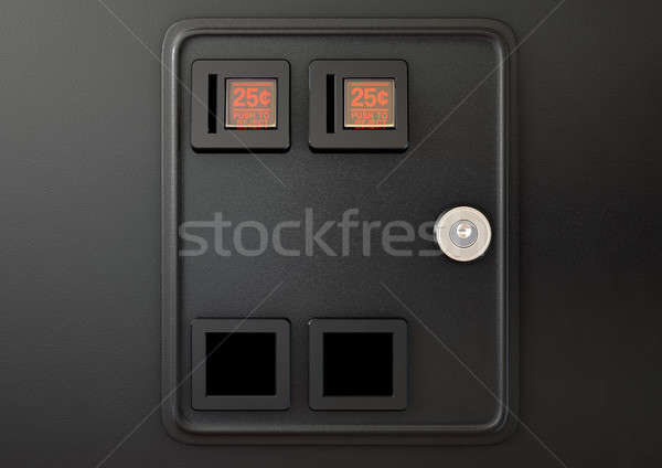 Arcade Machine Coin Slot Panel Stock photo © albund