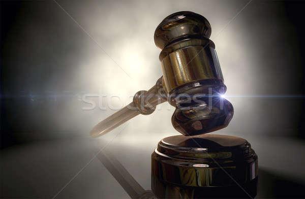 Justice Gavel Stock photo © albund