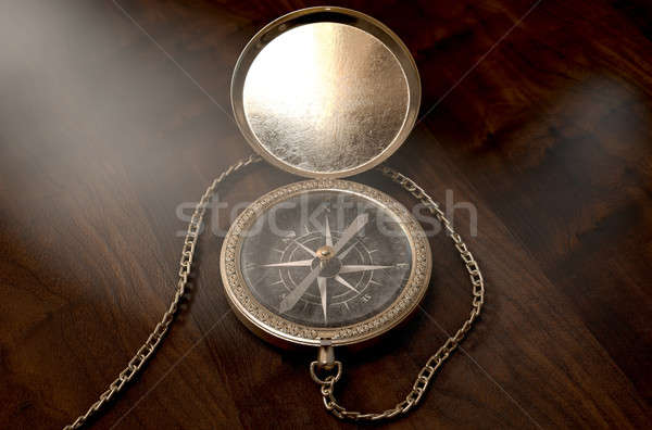 Ornate Pocket Compass Stock photo © albund