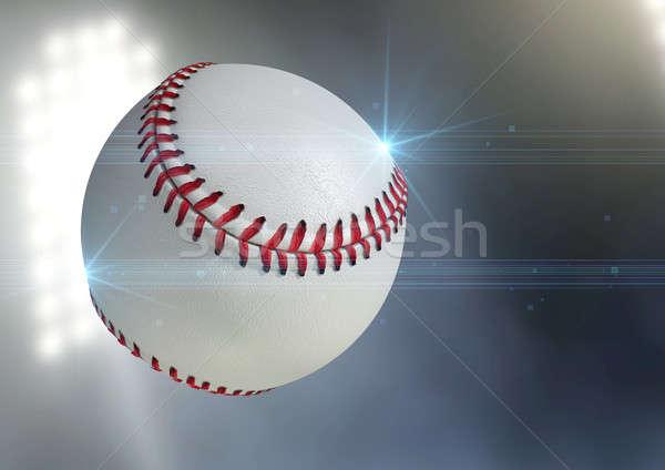 Ball Flying Through The Air Stock photo © albund
