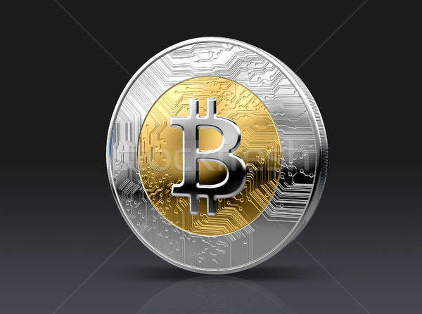 Cryptocurrency Physical Coin Stock photo © albund