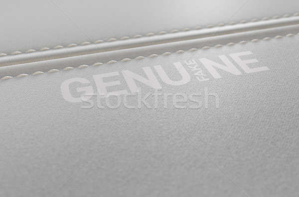 Canvas Material And Stitched Seam Fake Print Stock photo © albund