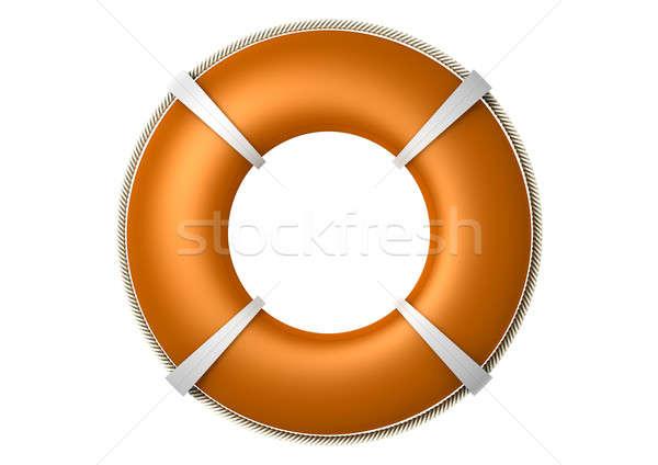 Rescue Lifebuoy Orange Stock photo © albund
