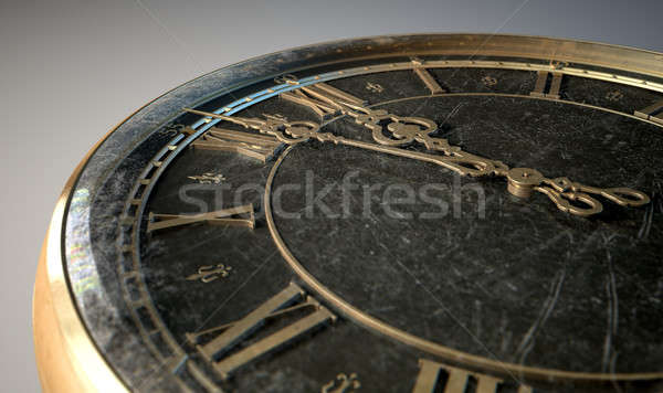 Stock photo: Macro Antique Watch Midnight