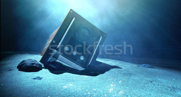 Stock photo: Flight Recorder Under The Sea