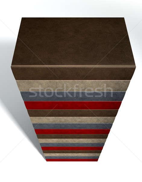 Stack Of Generic Leather Books Stock photo © albund