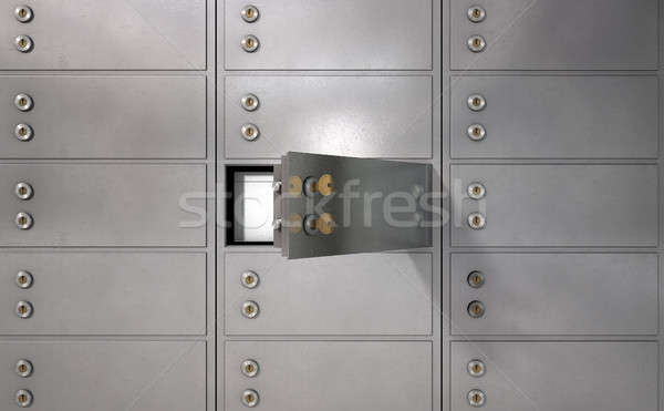 Stock photo: Safety Deposit Boxes