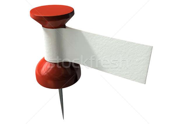 Thumbtack With Blank Label Stock photo © albund