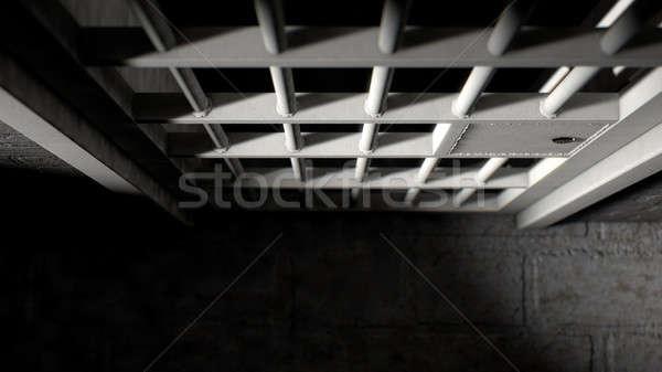 Cela porta ferro barras mecanismo Foto stock © albund