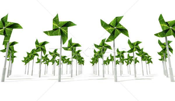Windmill Wind Energy Farm Stock photo © albund