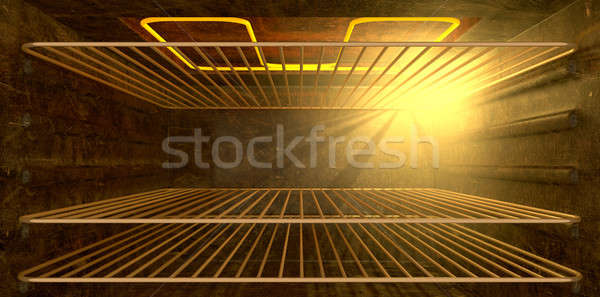 Wewnątrz piekarnik wygląd gospodarstwo domowe Zdjęcia stock © albund