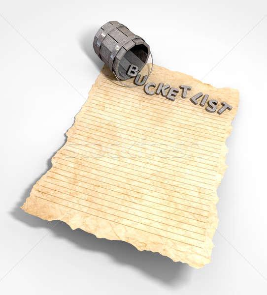 Emmer lijst bekoring papier metaal vintage Stockfoto © albund
