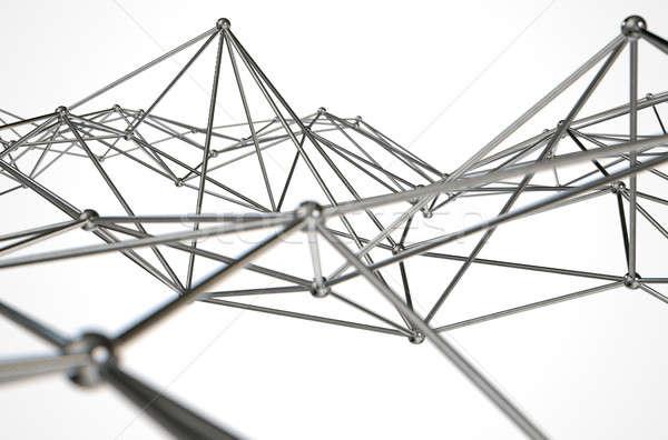 átomo abstrato coleção como metal Foto stock © albund