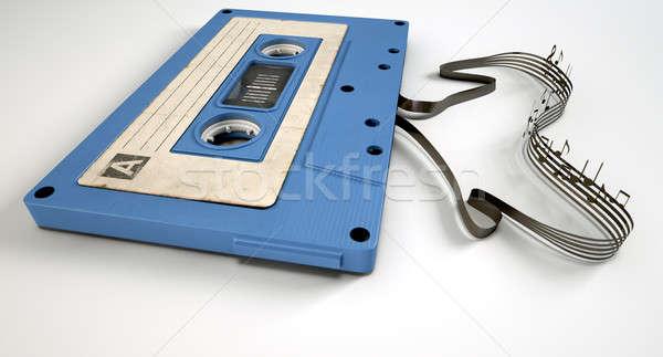 кассету лента музыки отмечает концепция мнение Vintage Сток-фото © albund