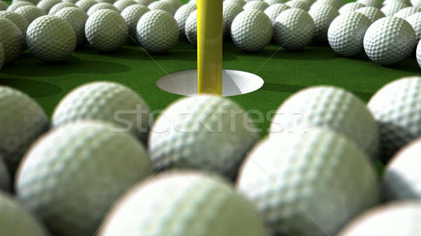 Golf Ball Hole Assault Stock photo © albund